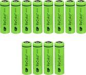 8 plus 4 Gratis GP Recyko + AA oplaadbare batterijen - 2600mAh