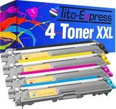 Tito-Exrpess PlatinumSerie 4x Brother TN-241 TN-245 XL toner alternatief voor Brother TN 241 TN 245 black cyaan magenta geel