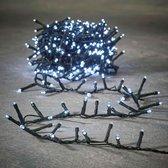 Luca Lighting kerstverlichting lichtsnoer - buiten - 550 lampjes wit - flashfunctie - 1100 cm