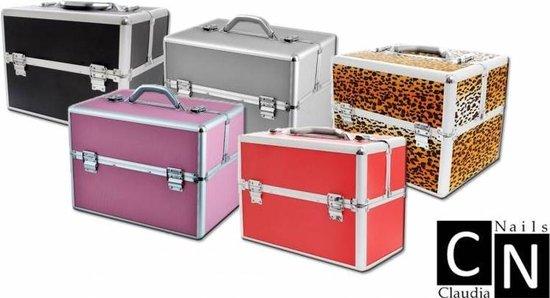 Aluminium koffer Rood, Nagelstyliste koffer, Nagel Koffer,Beauty case MBS® - ClaudiaNails