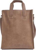 MYOMY My Paper Bag Short Handle Dames Handtas - Bruin