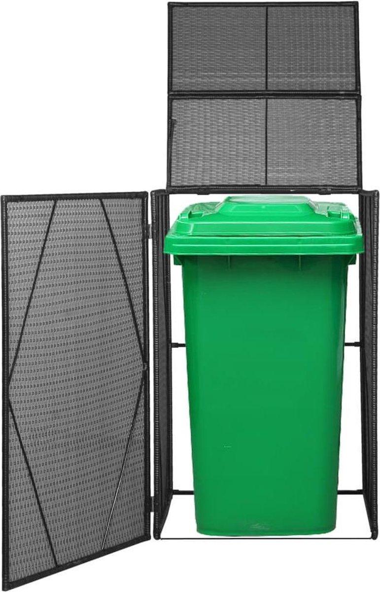 VidaXL Containerberging enkel 76x78x120 cm poly rattan zwart online kopen