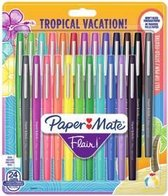 Papermate Flair Tropical Gelpen Multi kleuren Medium 24 stuk(s)