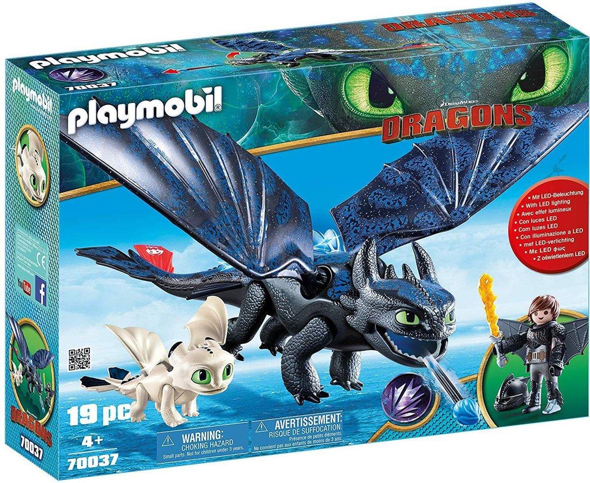 PLAYMOBIL Dragons Tandloos en Hikkie met Babydraak - 70037