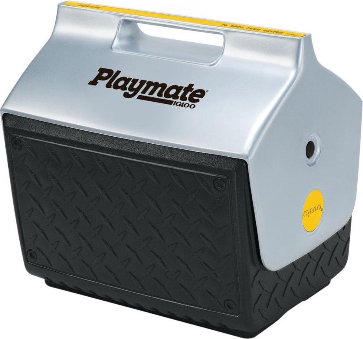 Igloo Playmate The Boss - Kleine koelbox speciaal voor de bouw -  13 Liter - Zwart/Zilver