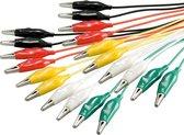 Goobay Test kabel set met krokodillenklemmen - 10 kabels / middel - 0,50 meter