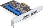 Delock - PCI Express Card - 2 x extern eSATA 6 Gb/s + 1 x in