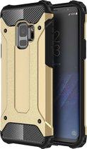 Ntech Samsung Galaxy S9 Hybrid Armor Hoesje - Goud
