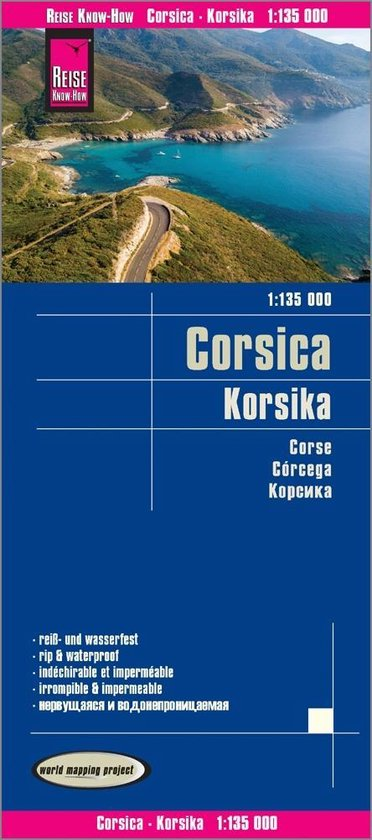Reise Know-How Landkarte Korsika 1 : 135.000