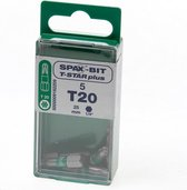 Spax Bit TX20 groen blister van 5 bits