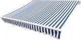 vidaXL Canvas zonnescherm met luifel  - 3,5x2,5m - blauw en wit gestreept