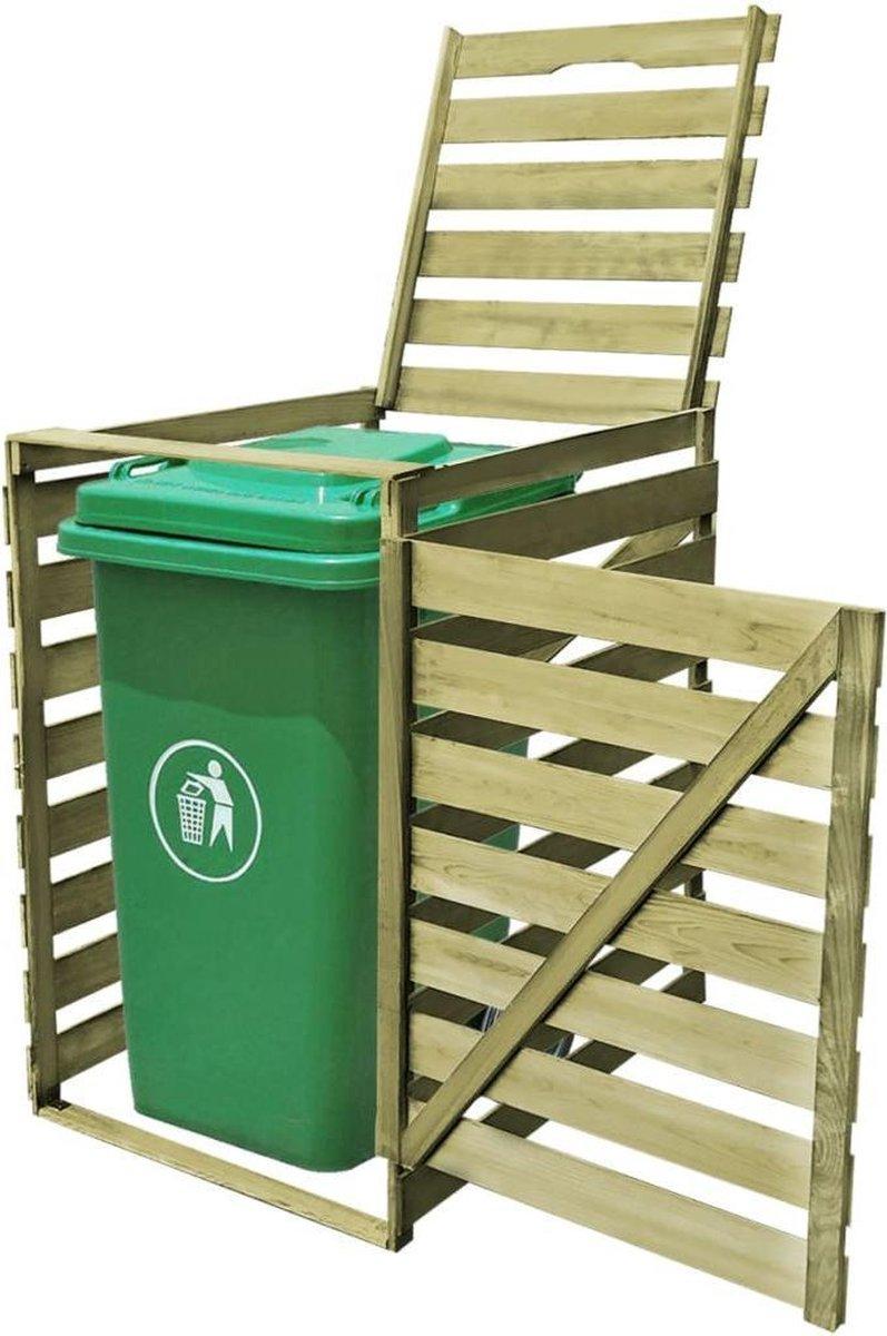 VidaXL Containerberging enkel 240 L geïmpregneerd hout online kopen