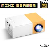 Lisiv Mini Beamer - Full HD 1080P - Mini beamer projector - Mini projector - Beamer mini - Beamer scherm - Portable - Presentaties / Films / Games - HDMI beamer - Pocket beamer - Beamer voor onderweg