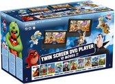 Denver MTW-757Twin - Draagbare DVD speler Auto - 7 inch - 2 schermen - DVD films - 10 films - (Smurfen, Angry Birds, Pieter Konijn, Stuart Little + meer)