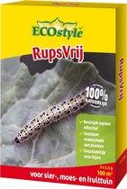 Ecostyle Rupsvrij - Anti Rups - Biologisch Bestrijdingmiddel Tegen Verschillende Soorten Rupsen - Buxesrups - Buxesmot 7,5 gr voor 100 m²