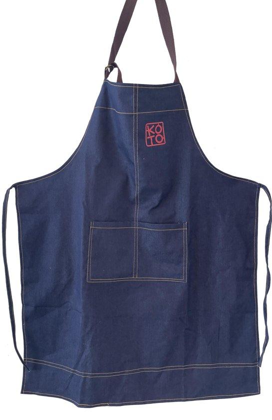 KOTO Kitchen   Schort met zakken   Denim   Blue   68cm x 83cm
