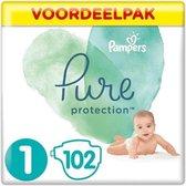 Pampers Pure Protection maat 1 (2-5kg) 102 luiers | Origineel