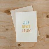 Jij bent leuk - kaartjes om te versturen - kaartenset - kaartjes blanco - kaartjes met tekst