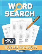 Word Search Puzzles Book for Adults: Crossword Puzzle Book For Adult, Activity Book - Activities for Seniors - Large Print with a Huge Supply of Puzzl