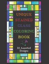 Unique Stained Glass Coloring Book - 23 Assorted Designs