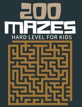 200 mazes for kids hard level: Maze Activity book for kids ages 4-6, 6-8 - Workbook for games- Maze Learning Activity book for kids