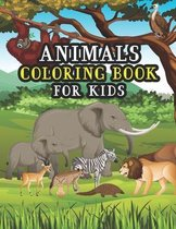 Animals Coloring Book For Kids: Big Educational Awesome Animals Coloring Book For Kids Girls And Boys