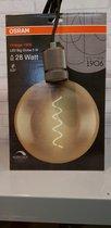 Osram 5watt goud vintage bol LED lamp incl fitting met nylon kabel en afdekkap voor plafond centraaldoos