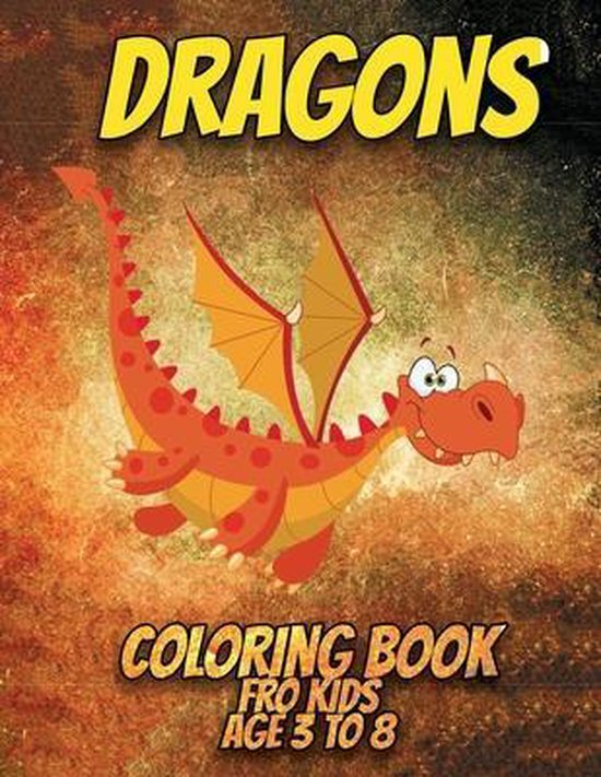dragons coloring book for kids ages 3 to 8