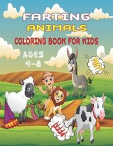 Farting Animals Coloring Book For Kids Ages 4-8