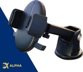 Alpha Premium Telefoonhouder Auto Zuignap - Accessories Interieur - Zwart