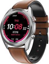 DrPhone ModelX3 - Smartwatch voor Mannen - 1.28inch IP67 Waterdicht - ECG Bluetooth Bellen - Mail / IOS / Android - Bruin