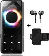 MP3 Speler - MP3 Speler inclusief Oordopjes - MP3 16GB Geheugen - MP3 Speler Zwart - Nieuwe Versie