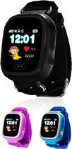 Wonlex Kinder Smartwatch Horloge GPS met Simkaart- Zwart - GPS & WIFI met Belfunctie - GPS Horloge Kind - Smartwatch Kids