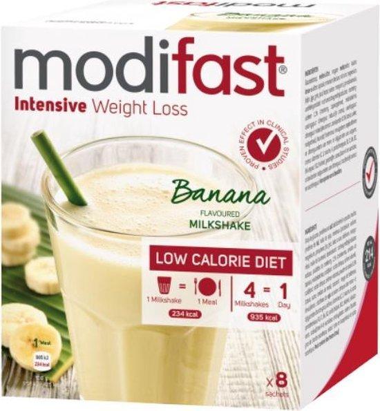 Modifast Bananen Milkshake - Drinkmaaltijd - 8 stuks