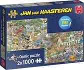 Jan van Haasteren Safari & Storm 2-in-1 puzzel - 2 x 1000 stukjes