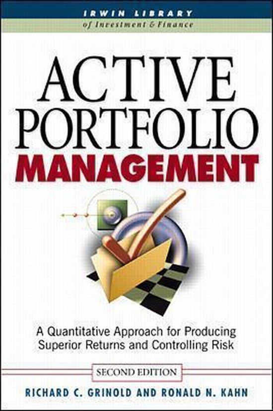 Boek cover Active Portfolio Management van Richard C. Grinold (Hardcover)