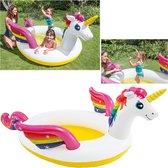 Intex Unicorn opblaas peuter/kleuter bad met sproeier