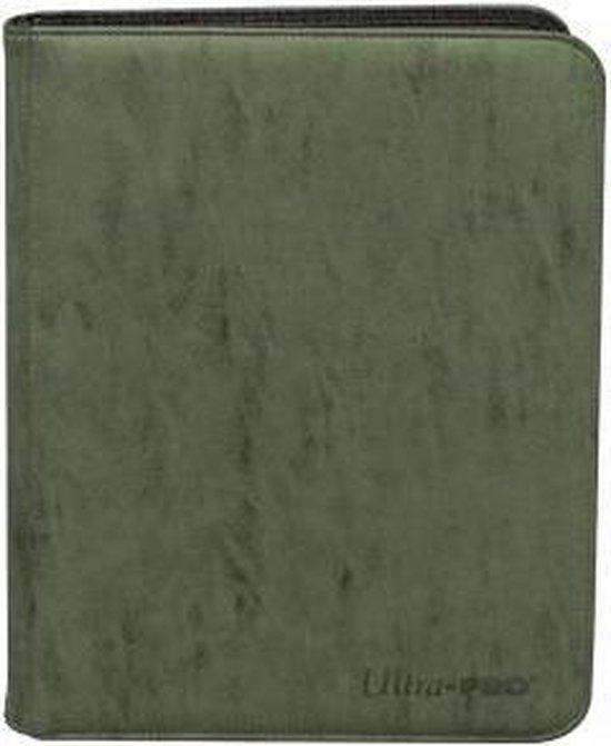 Afbeelding van het spel Suede Collection Zippered 9-Pocket Premium PRO-Binder - Kaartmap - Emerald