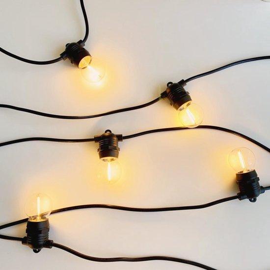 a sunny day lichtsnoer buiten inclusief 10 LED lampen - 10 meter - lichtsnoer voor buiten - prikkabel - lichtsnoer - 10 LED lampen - verlengbaar - lichtsnoer binnen - prikkabel binnen - prikkabel 10m - lichtsnoer tuin - prikkabel tuin