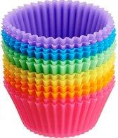 YNONA® Daily Products - Cupcake Vormpjes - Siliconen Cupcake Vormpjes - Muffin Bakvormen - Siliconen Bakvormen - Cupcake Bakvorm - Siliconen Cupcake Vorm - Herbruikbaar - 12 stuks - Ø7 cm - Heel Holland Bakt - Moederdag