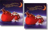 16 Dubbele Kerst & Nieuwjaarskaarten - Lannoo - Witte envelop - 12 x 13,3 cm