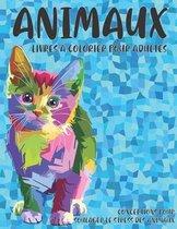 Livres a colorier pour adultes - Conceptions pour soulager le stress des animaux - Animaux