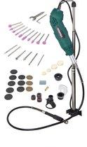 VONROC Multitool – Roterend – 160W – Incl. 40 accessoires, 2 opzetstukken, flexibele as en opbergtas