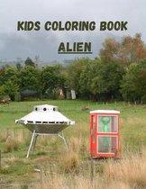 Kids Coloring Book Alien