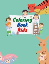 Coloring book for kids aged 4-8