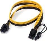 6Pin to 8Pin 6+2pin 60cm 18AWG puur koperen vertinde Kabel voor PSU GPU Ethereum ETH Mining