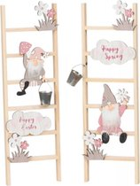 "2 Houten ladders ""Happy Spring & Happy Easter"""