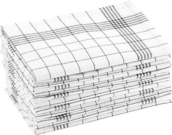 Rosenstein & Söhne, 12-pack theedoeken, keukendoeken, afdroogdoeken, 100% katoen, 70x50cm