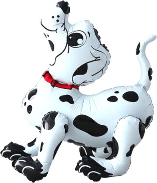 Hond Ballon - Dalmatier Ballon - 3D Ballon - 58 x 53 cm - Ballon Groot - Inclusief Opblaasrietje - Honden Ballon - Ballonnen - Ballonnen Verjaardag - Folieballon
