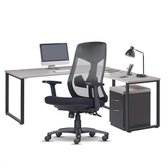 VillaMeubels Computer Bureaus - Hoekbureau - L Vormig - Industrieel - Rustiek - 135 x 135 x 75 cm - Corner Gaming Desk - Office Desk - Easy to Assemble - Rustic Brown